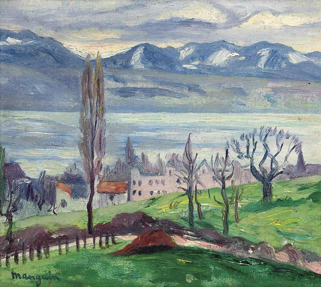 Henri Manguin. Lake Bret, Switzerland