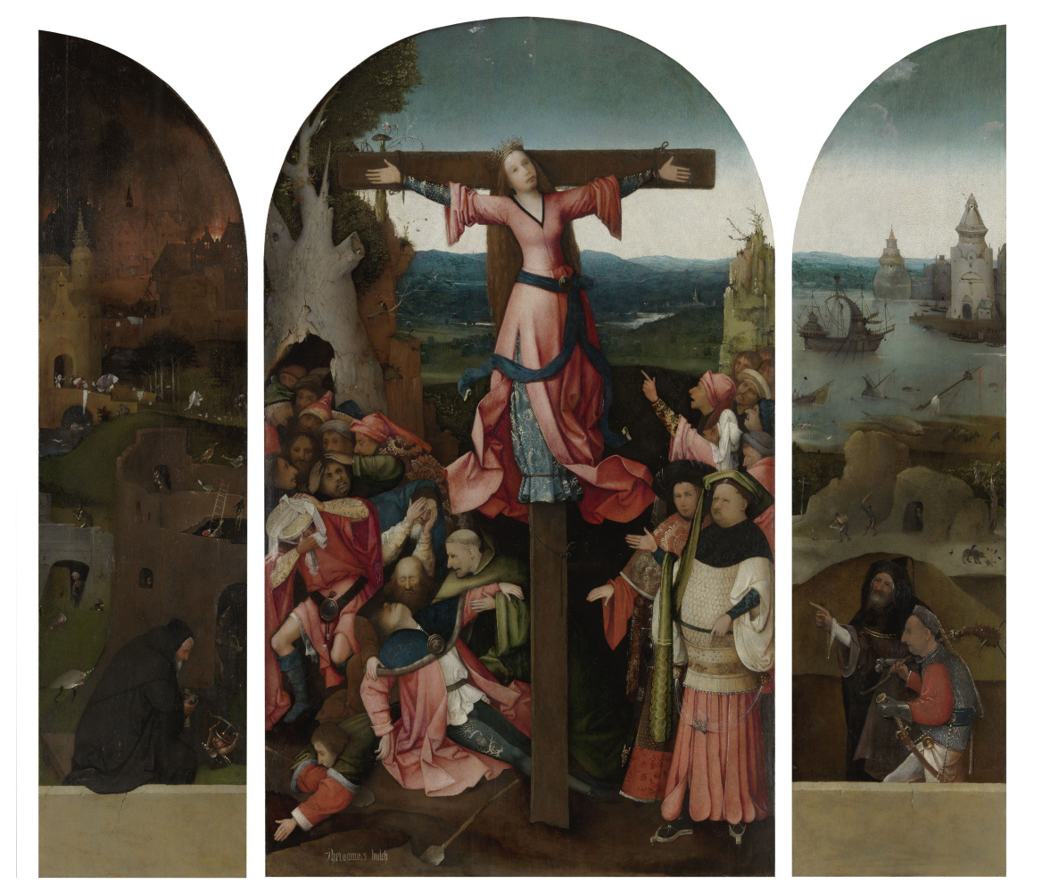 Hieronymus Bosch. Crucified Martyr