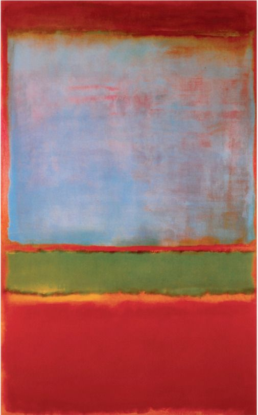 Rothko Mark.  No. 6 (Violet, green, red)