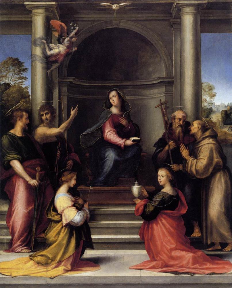 Фра Бартоломео. Воплощение с шестью святыми