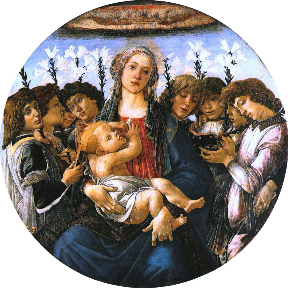 Сандро Боттичелли. Мадонна с поющими ангелами