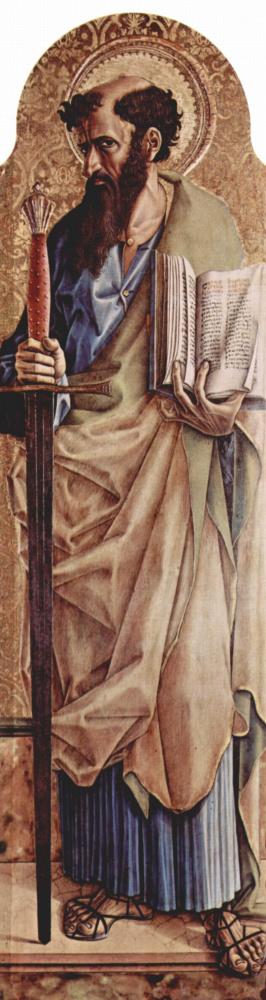 Карло Кривелли. Святой Павел. Центральный алтарь кафедрального собора в Асколи, полиптих, правая створка внешняя сторона