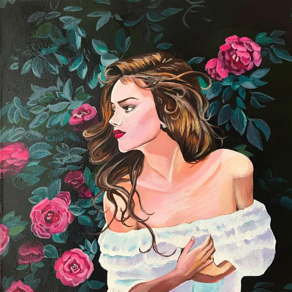 Valeria Yakusheva. The girl in the rose garden