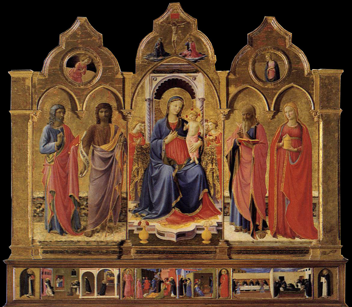 Corton Triptych. Central Panel: Mary with Baby and Angels