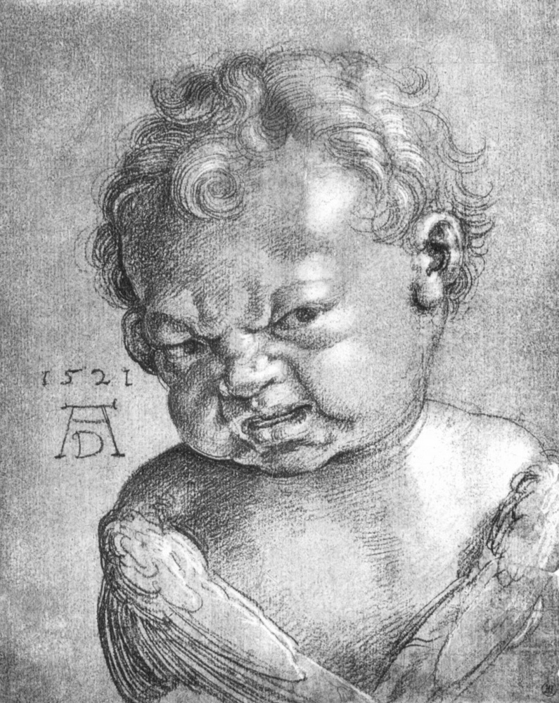 Albrecht Dürer. Crying angel (sketch)
