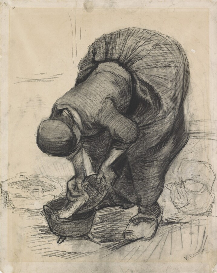 Vincent van Gogh. Peasant woman, cleaning the pot