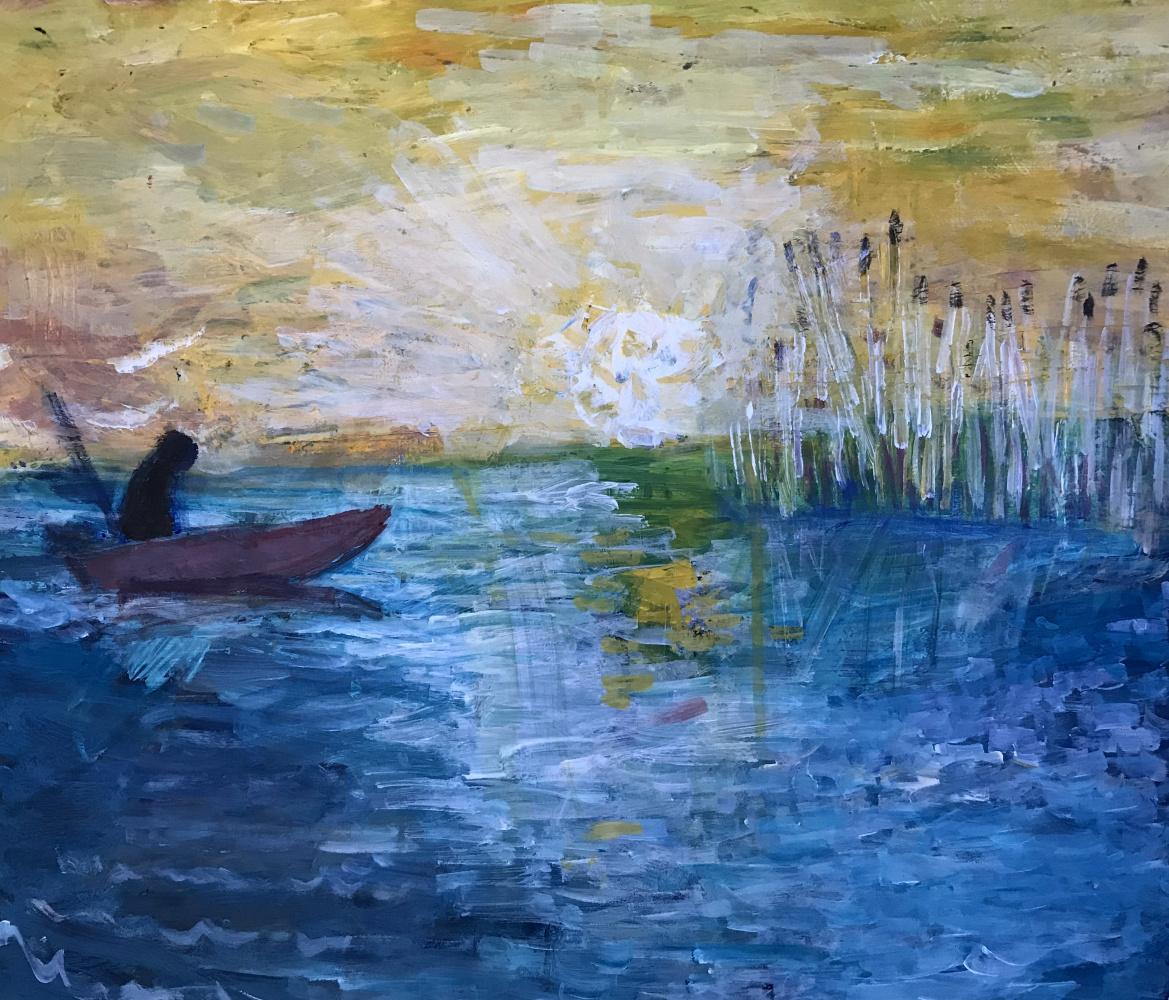 Мурад Халилов. Fisherman at sunrise