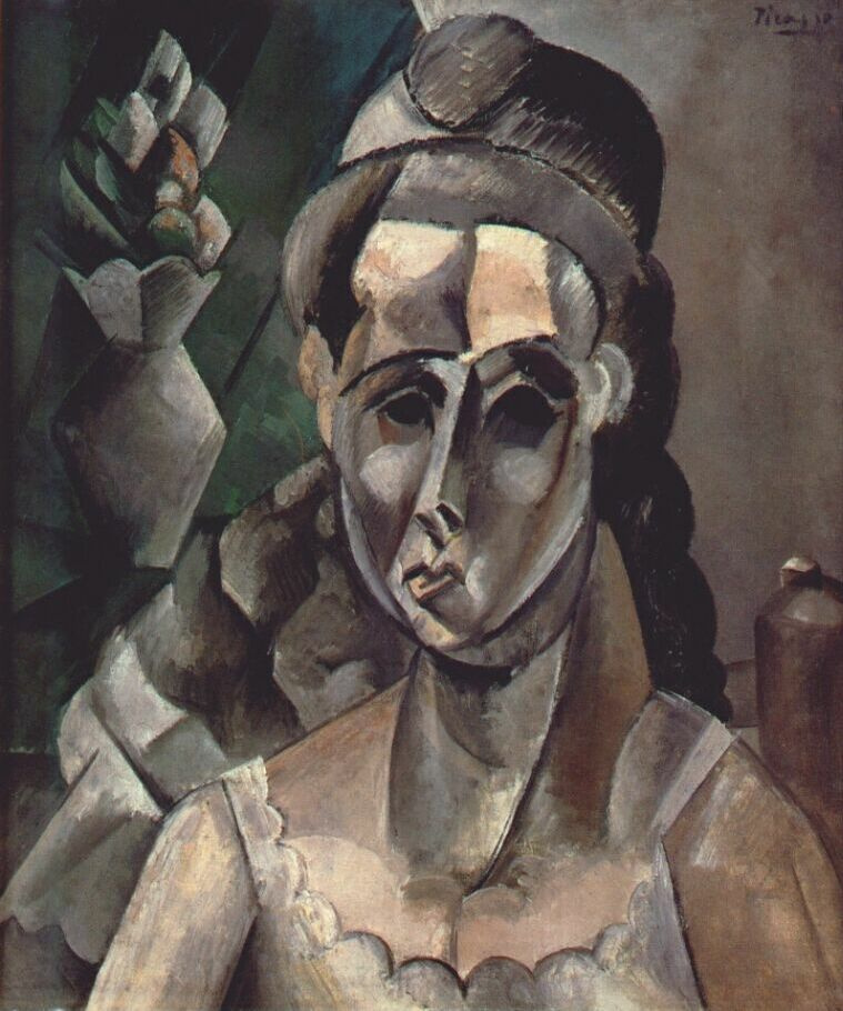 Пабло Пикассо. Женщина и ваза с цветами