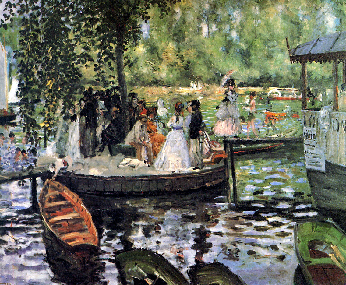 Pierre Auguste Renoir. La Grenouillère (The Frog Pond)