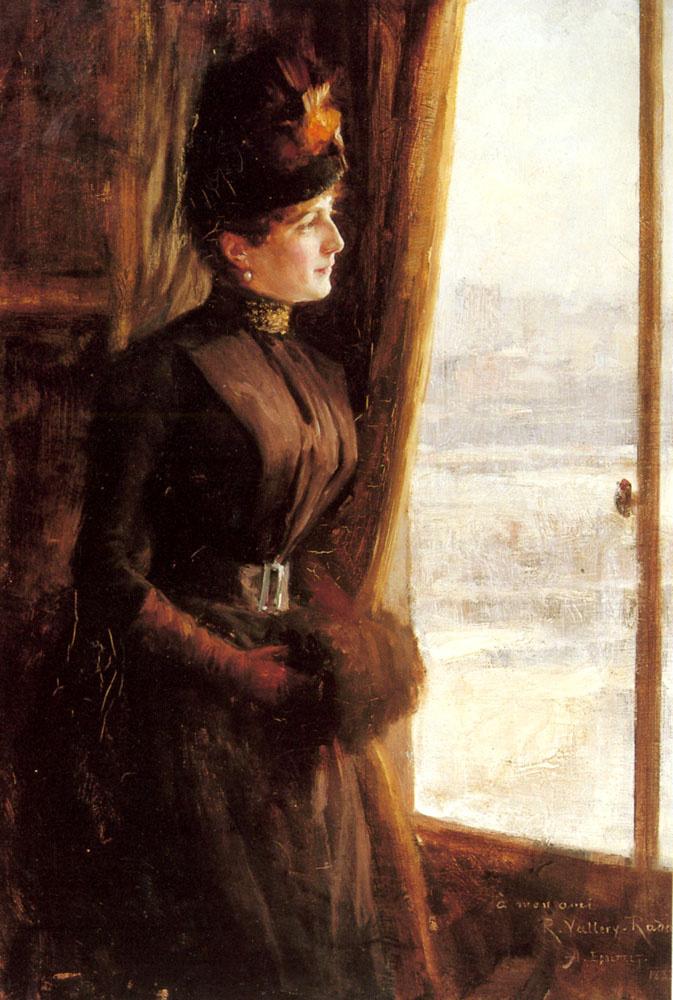 Albert Gustav Aristide Edelfelt. Portrait of Mrs. Valerie Happy