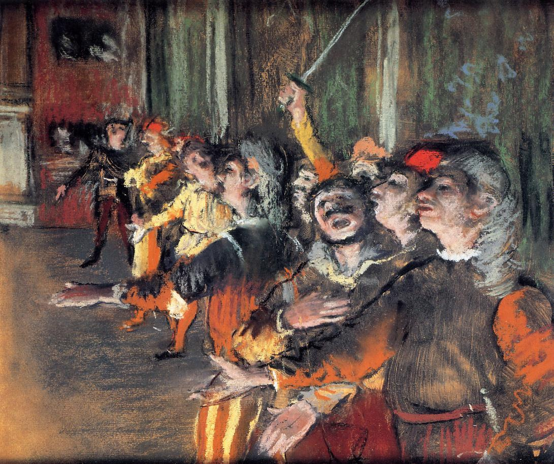 Edgar Degas. The choir