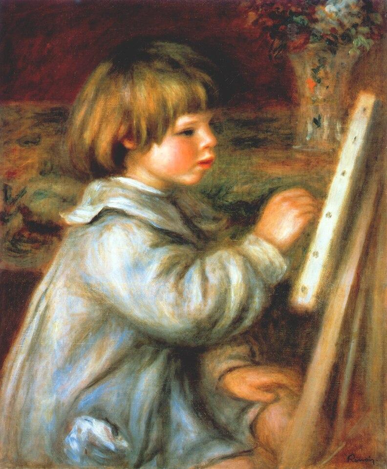 Pierre-Auguste Renoir. Claude draws