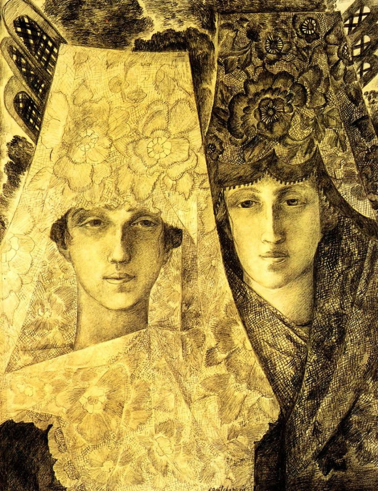 Natalia Goncharova. The Spanish flu