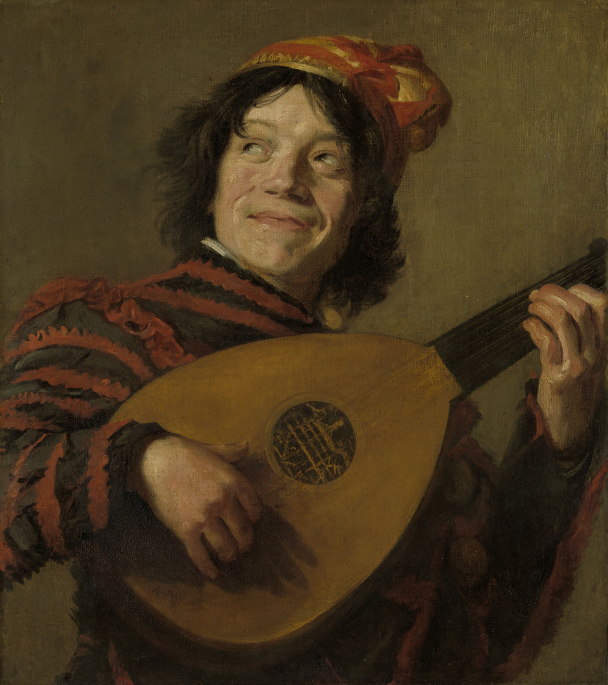 Judith Leyster. Playing the lute (after Frans Hals)