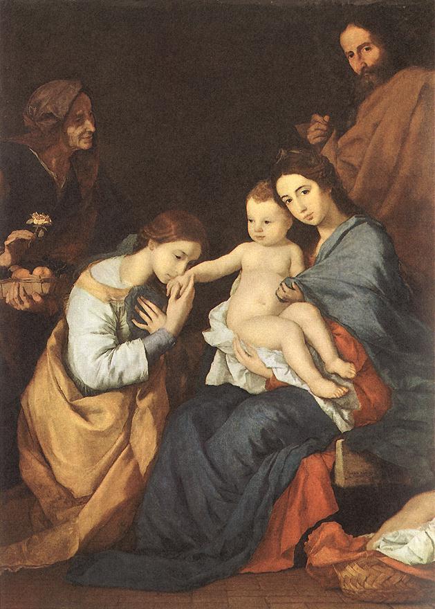Хосе де Рибера. Святое семейство со Святой Екатериной