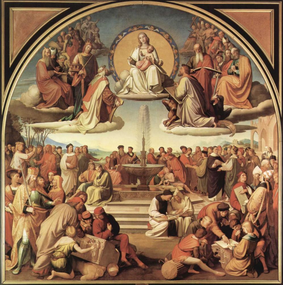 Иоганн Фридрих Овербек. Религия торжествует в искусствах