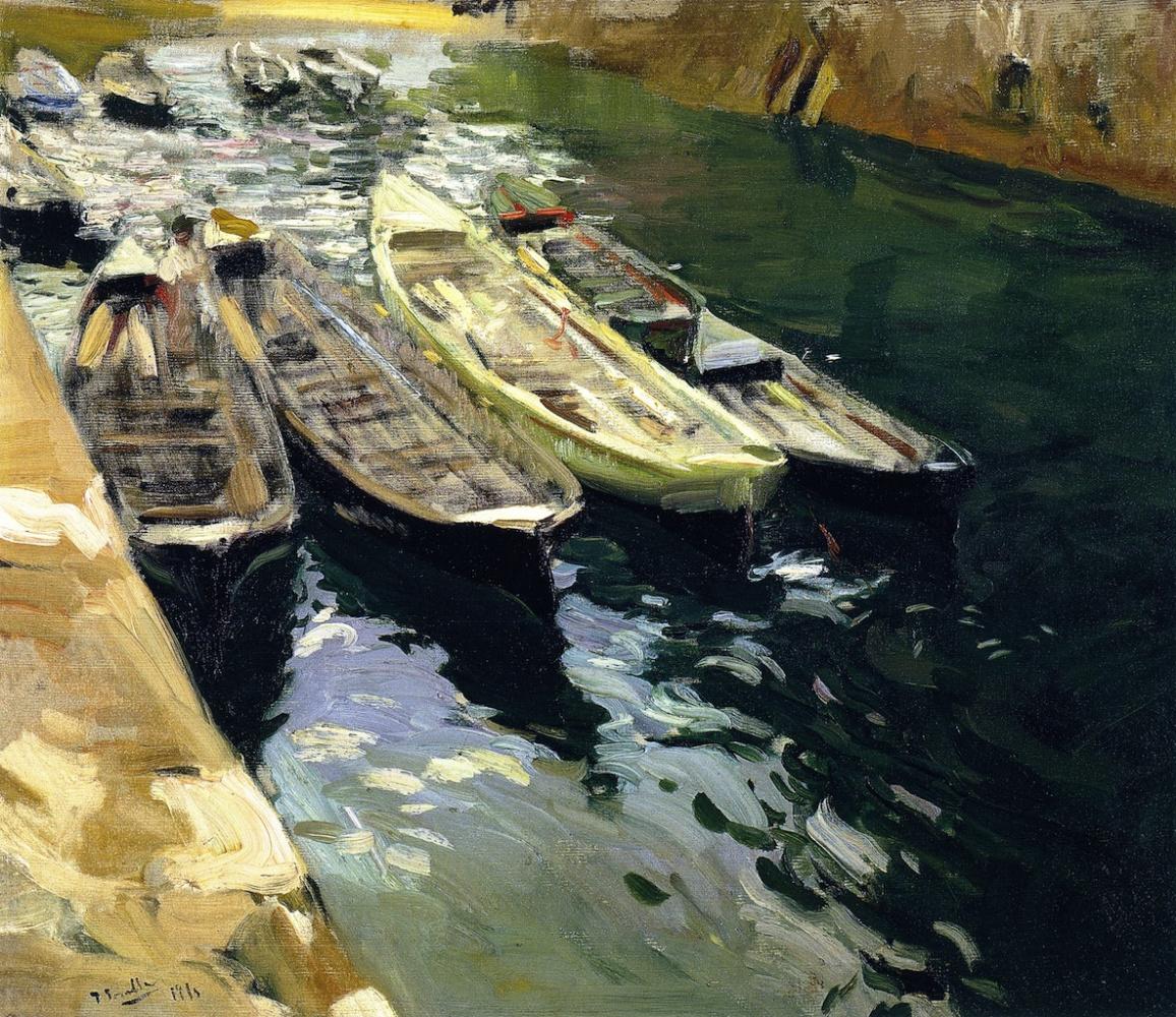 Joaquin Sorolla. Fishing boats, port of Zarauz