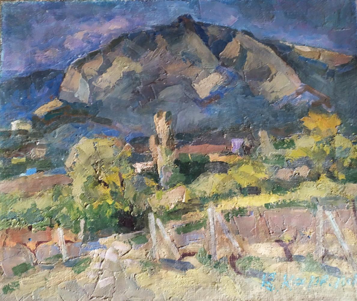Вячеслав Дмитриевич Карелин. Spring in the foothills of Ai-Petri