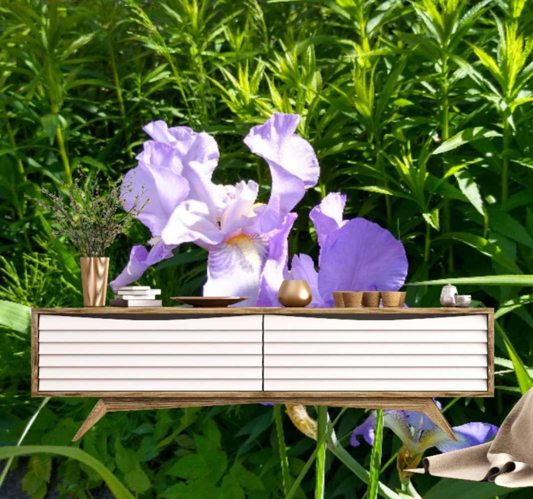 Natalya Garber. Irises. Work for an IT company and a mindfulness meditation center on the permeability of the virtual and real worlds