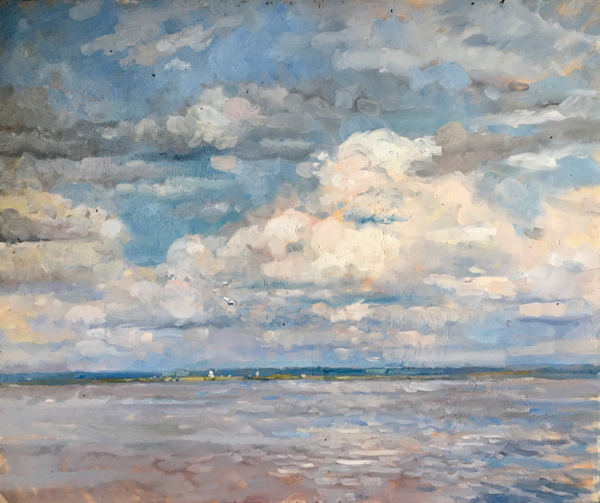 Aleksandr Chagadaev. Clouds over the Volga River
