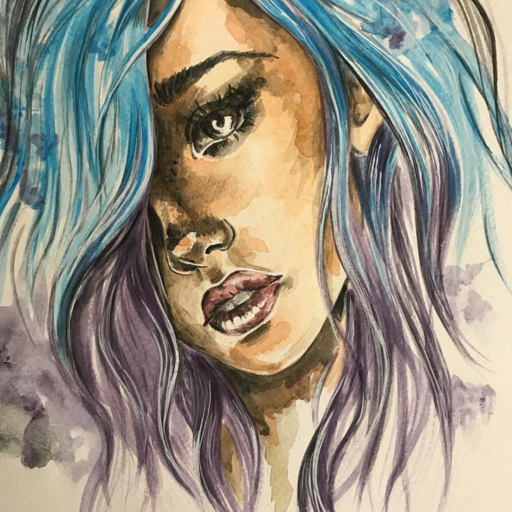 Anastasia Windermere. Girl, watercolor