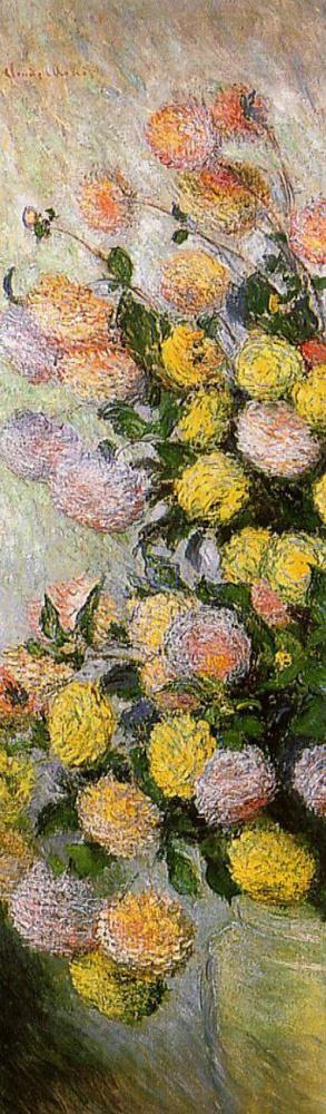 Claude Monet. Vase of dahlias