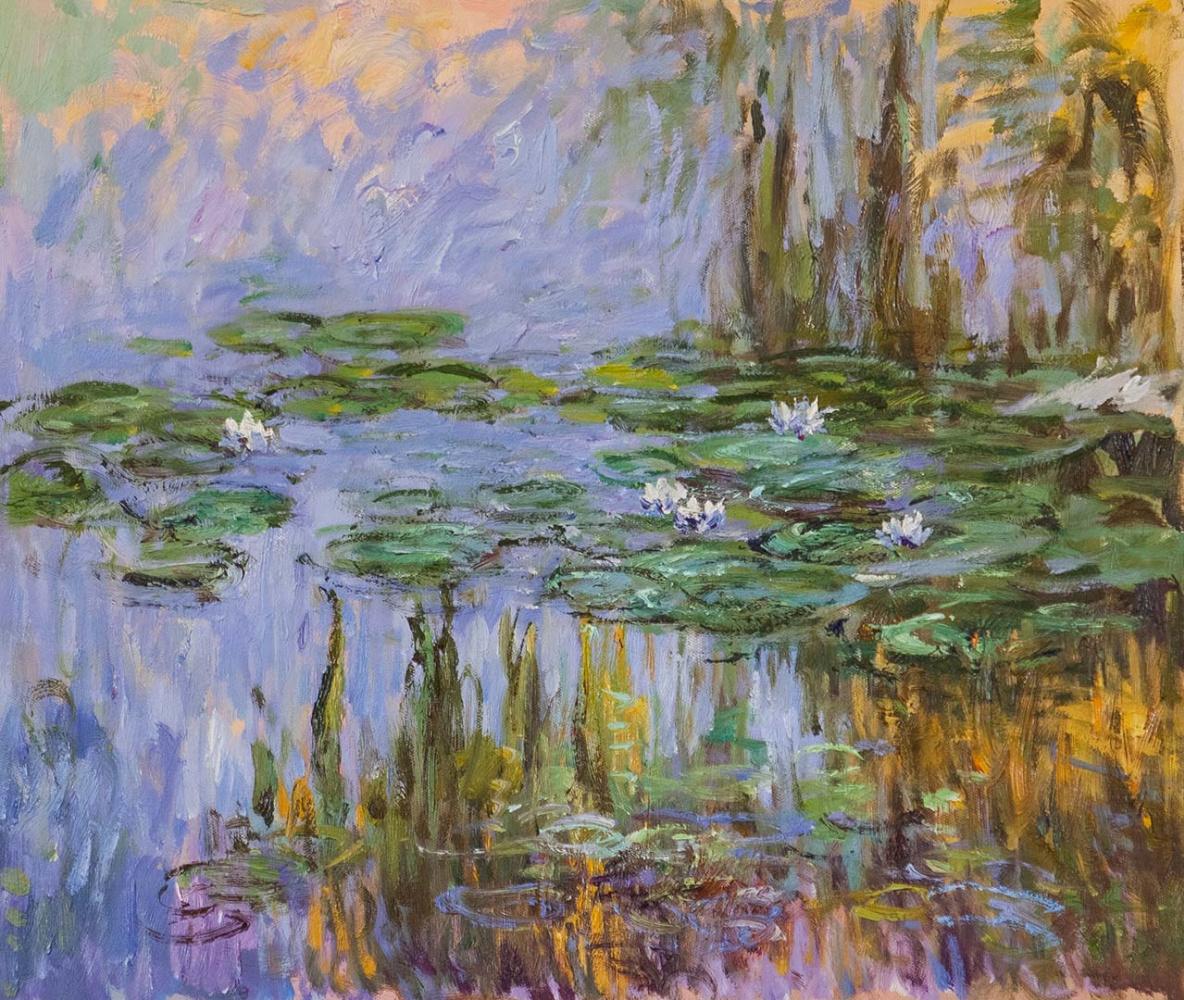 Савелий Камский. Водяные лилии, N24, копия картины Клода Моне