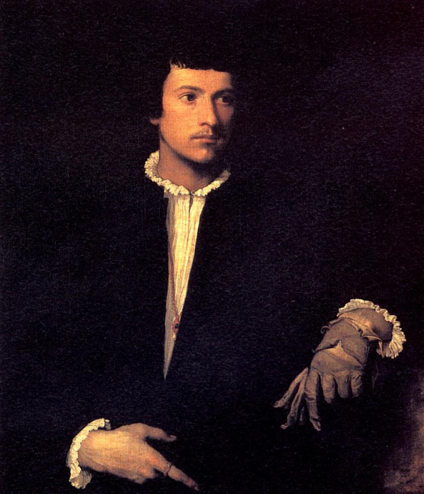 Тициан Вечеллио. Портрет мужчины с перчаткой