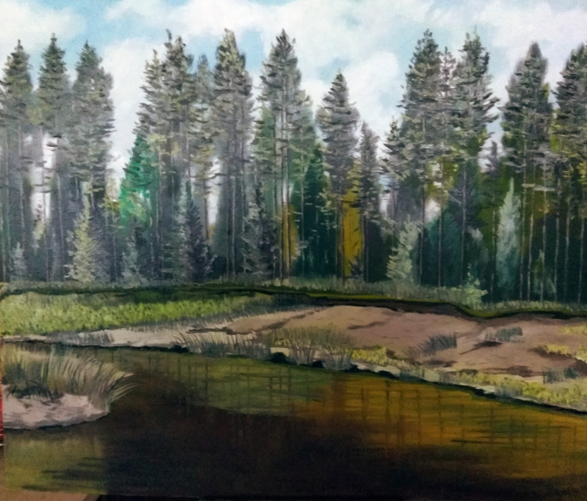 Vladimir Adamovich Ropot. Forest backwater