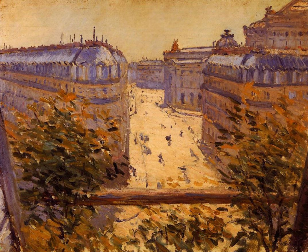 Gustave Caillebotte. Street view of Alevis from the balcony