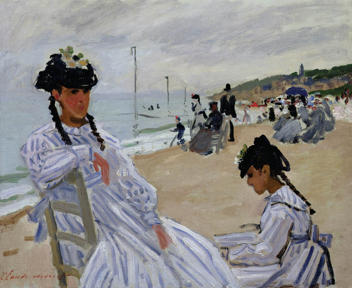 Claude Monet. On the beach in Trouville