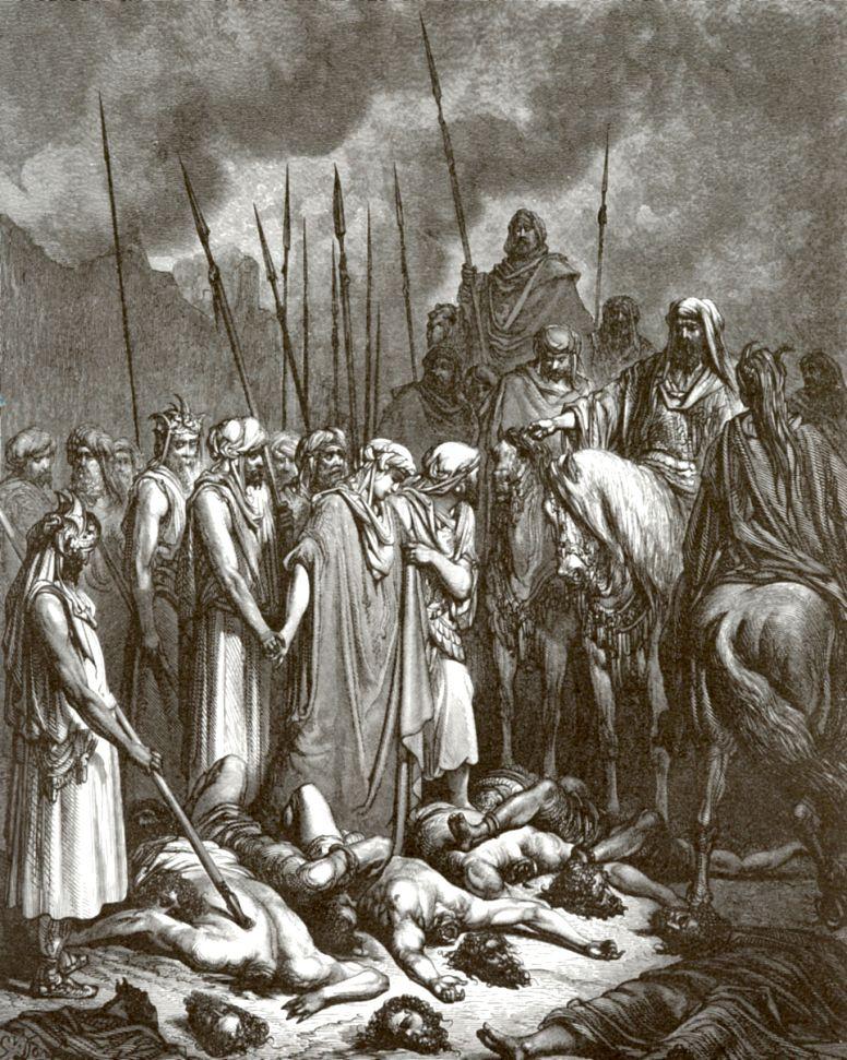 Поль Гюстав Доре. Иисус Навин оставляет в живых Раав