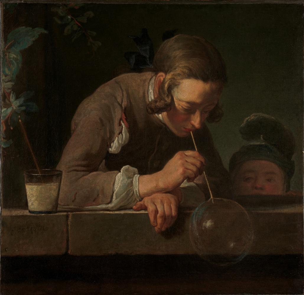 Jean Baptiste Simeon Chardin. Bubbles