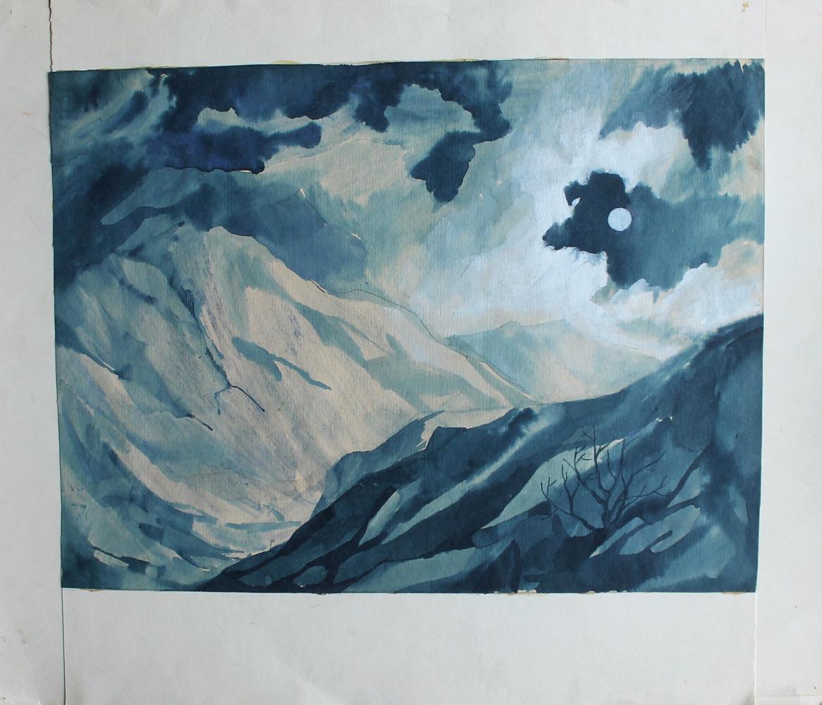 Eugene Mikhailovich Emelyanov. Night rocks