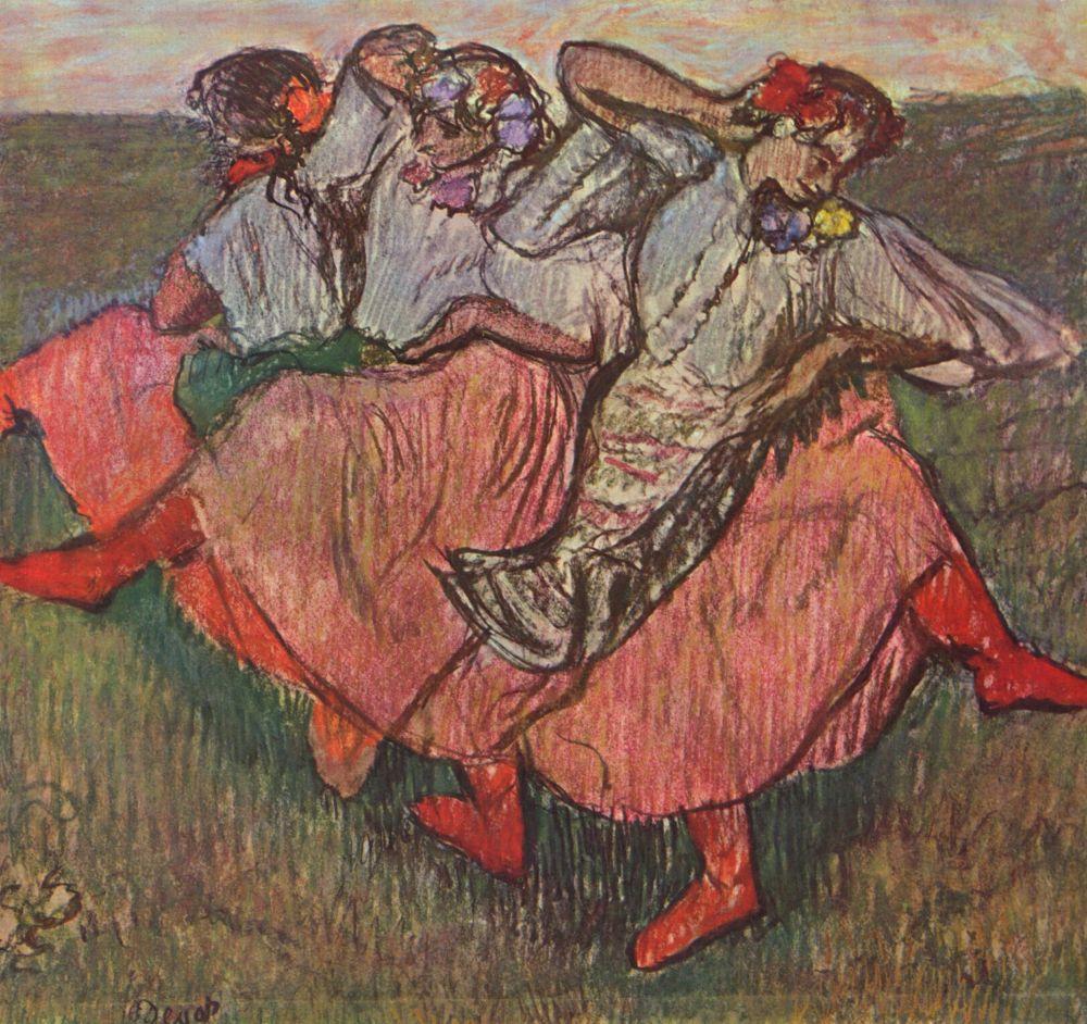 Edgar Degas. Three Russian dancers