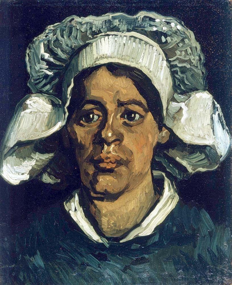 Винсент Ван Гог. Голова крестьянки в белом чепце