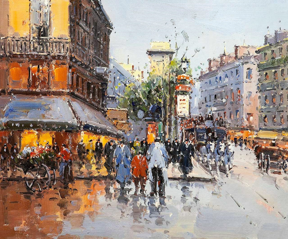 Andrey Sharabarin. Dreams of Paris N1 (based on the pictures of Blanchard and Cortez)