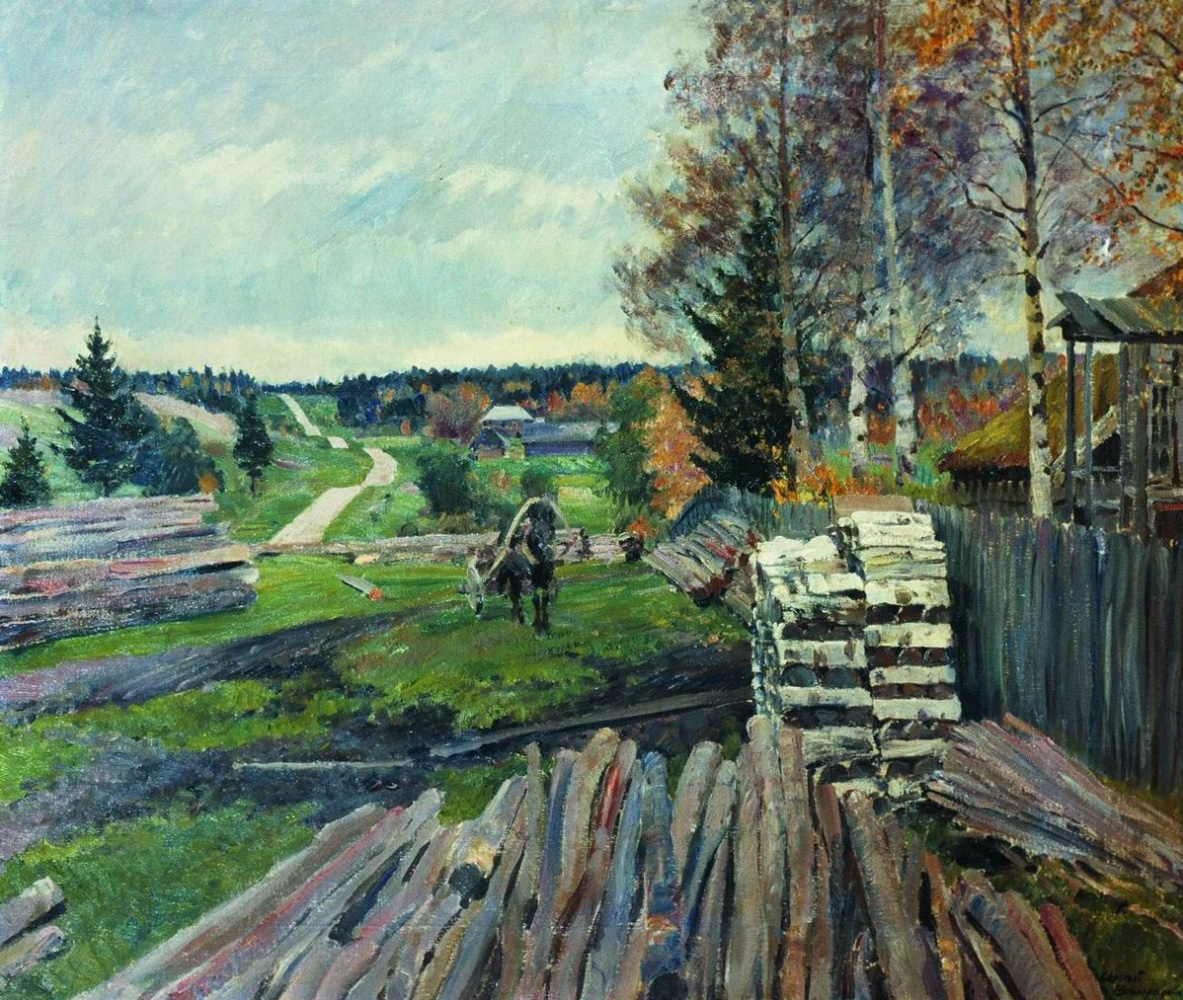 Sergey Arsenievich Vinogradov. Latgale landscape. Highway