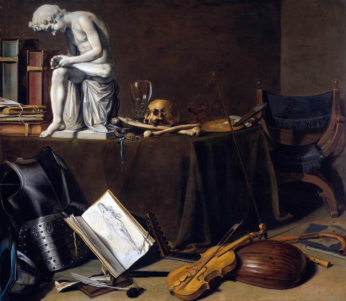 Pieter Claesz. Still life with boy with thorn. Vanitas