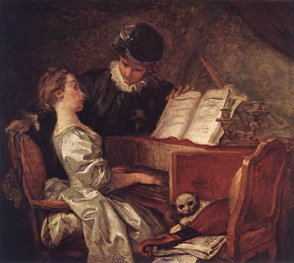 Jean-Honore Fragonard. Music lesson