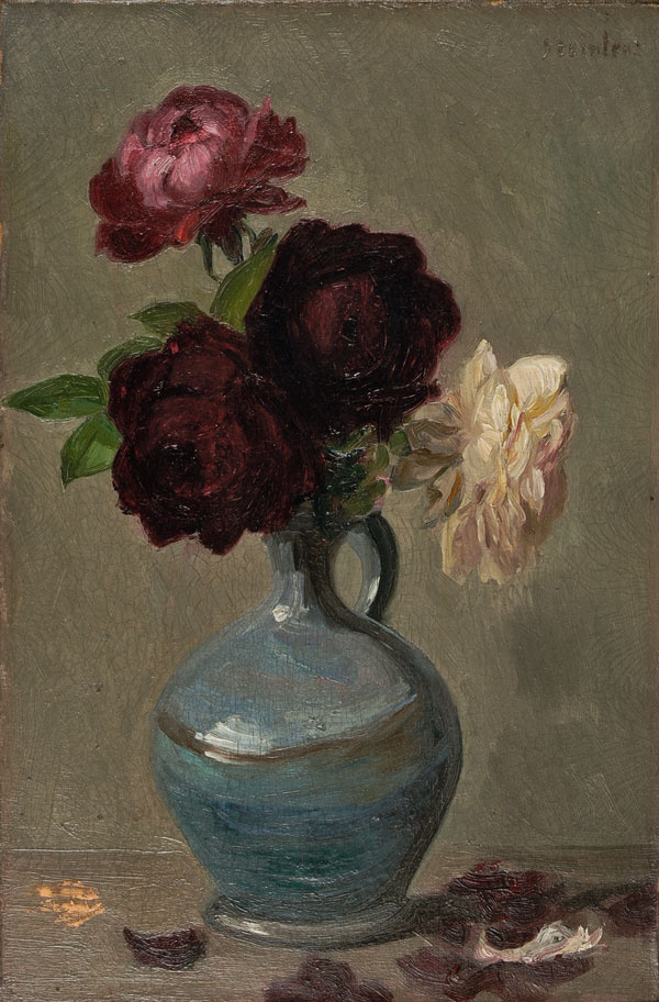 Theophile-Alexander Steinlen. Vase with peonies