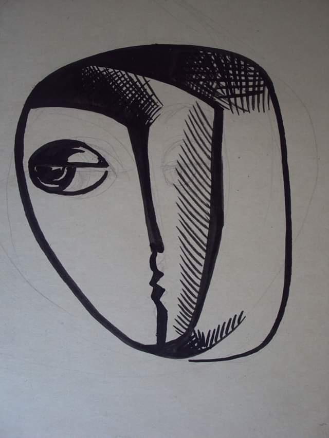 Ivangardism. Portrait.