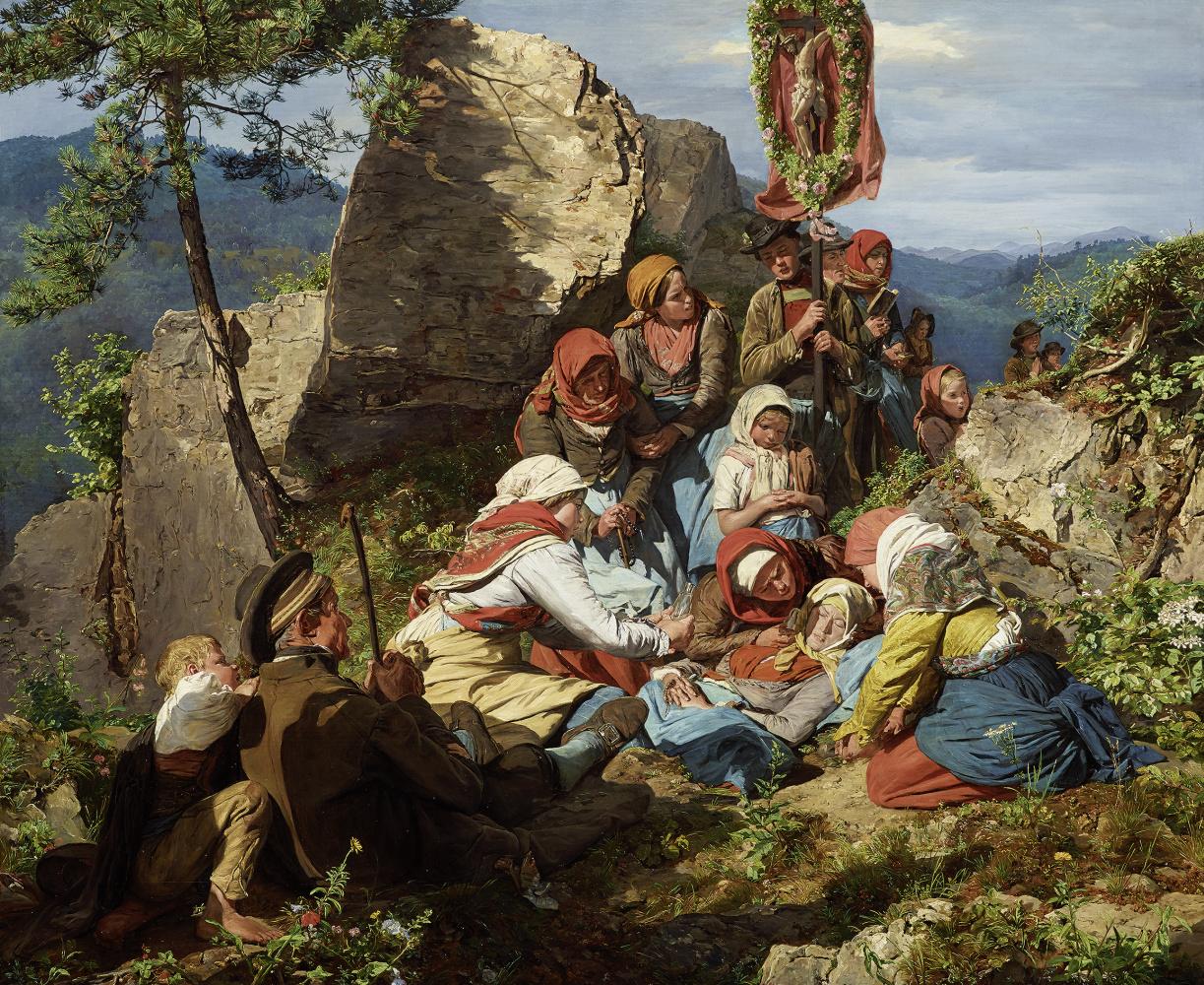Фердинанд Георг Вальдмюллер. Прерванное паломничество (Больная паломница)