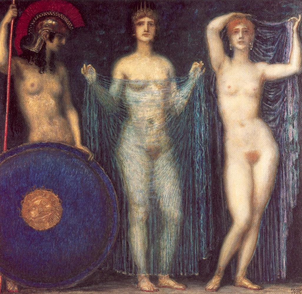 Франц фон Штук. Три богини: Афина, Гера, Афродита