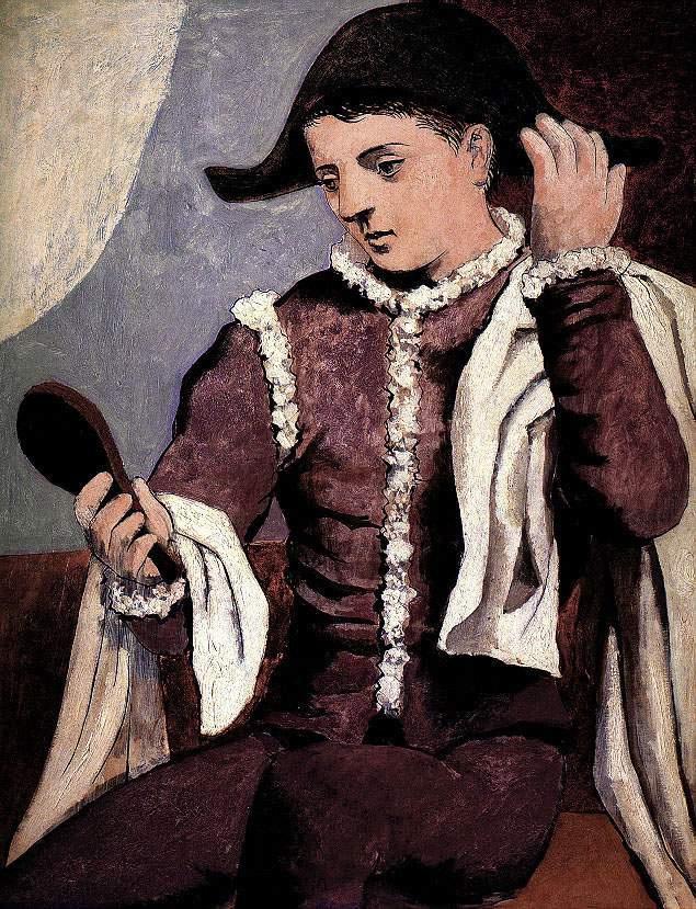 Пабло Пикассо. Арлекин и зеркало