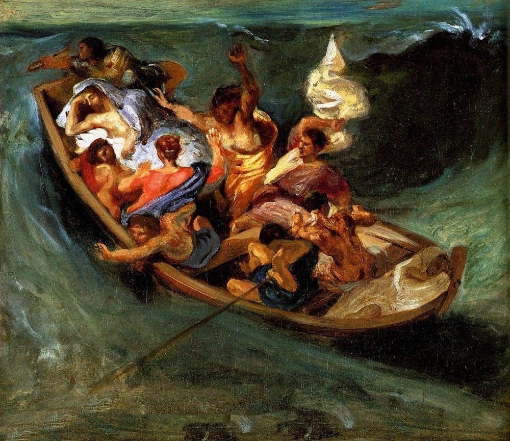 Эжен Делакруа. Христос на озере Геннисарет, эскиз