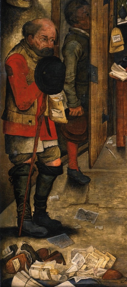 Peter Brueghel The Younger. Rural lawyer (the Peasants from the tax collector). Fragment. The petitioner