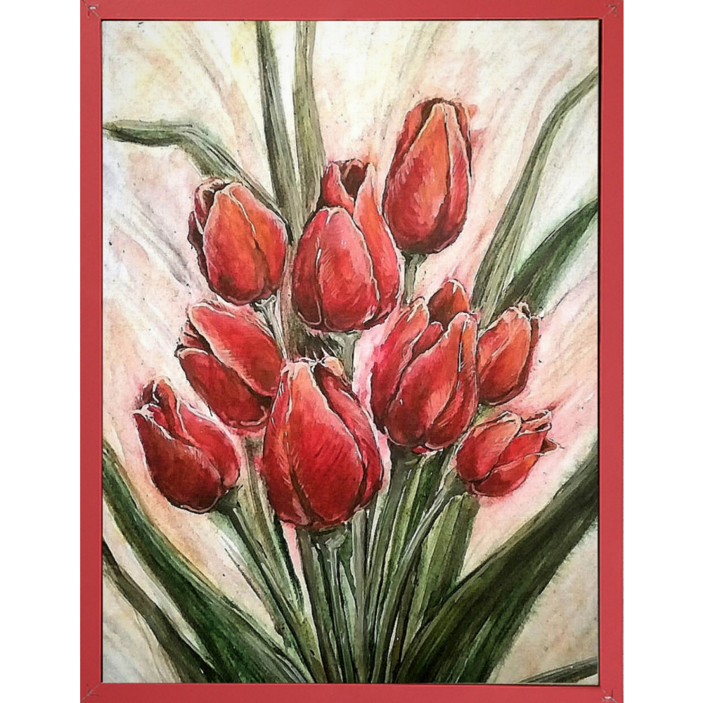 Elena Lobanova. Red tulips