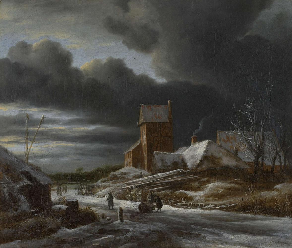 Jakob van Isaacs Ruisdael. Winter landscape