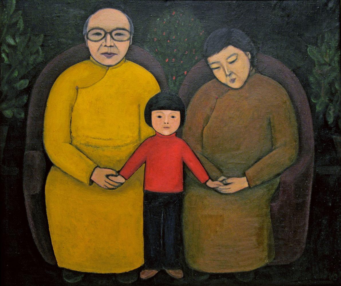 Indira Baldano. With grandfather, grandmother